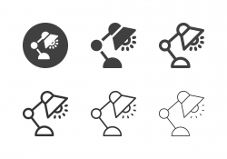Electric Lamp Icons - Multi Series