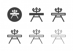 Dining Table with Candle Holder Icons - Multi Series