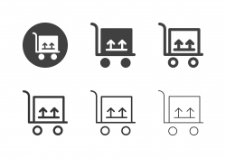 Trolley Cart with Box Icons - Multi Series