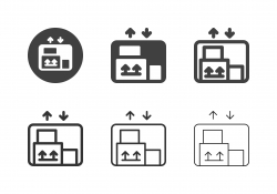Freight Elevator Icons - Multi Series
