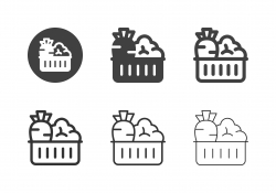 Vegetable in the Basket Icons - Multi Series