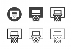 Basketball Hoop Icons - Multi Series
