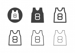 Basketball Uniform Icons - Multi Series