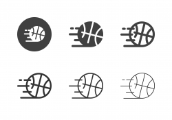 Speed Basketball Icons - Multi Series