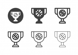 Basketball Cup Icons - Multi Series