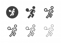 Basketball Running Icons - Multi Series