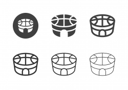 Basketball Stadium Icons - Multi Series