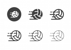Speed Volleyball Icons - Multi Series