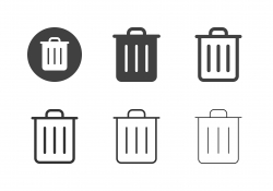 Garbage Can Icons - Multi Series