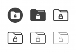 Lock Folder Icons - Multi Series