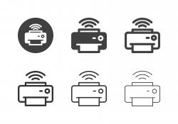 Wireless Printer Icons - Multi Series