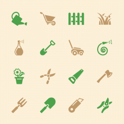 Gardening Icons - Color Series | EPS10