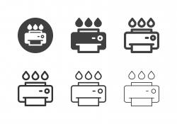 Inkjet Printer Icons - Multi Series