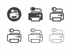 Electric Printer Icons - Multi Series