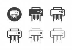 Paper Shredder Icons - Multi Series