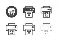 Printing Font Icons - Multi Series