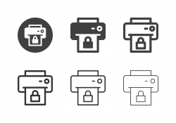 Printer Locked Icons - Multi Series