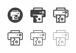 Landscape Image Printing Icons - Multi Series