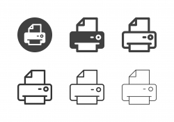 Laser Printer Icons - Multi Series