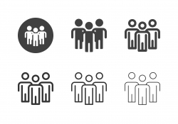 Group of People Icons - Multi Series