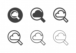 Cloud Computing Searching Icons - Multi Series
