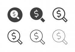 Dollar Search Icons - Multi Series