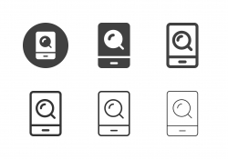 Mobile Search Icons - Multi Series