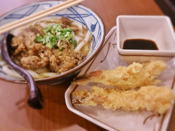 Shrimp Tempura with Beef Noodle