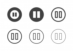 Pause Button Icons - Multi Series