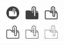 Folder Clip Icons - Multi Series