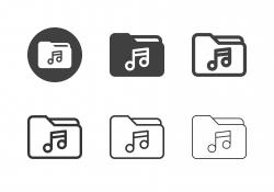 Music Folder Icons - Multi Series