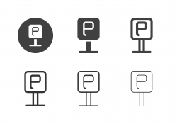 Parking Sign Icons - Multi Series