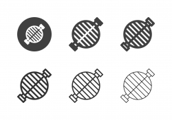 Metal Grill Grate Icons - Multi Series