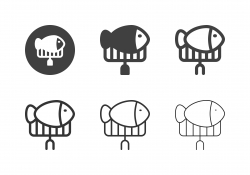 Grilling Fish Icons - Multi Series