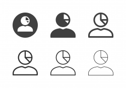 Human Head Pie Chart Analyze Icons - Multi Series