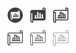 Bar Graph Document Icons - Multi Series
