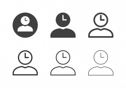 Human Head Clock Icons - Multi Series