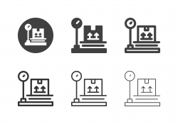 Box Weight Scale Icons - Multi Series