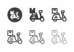 Delivery Scooter Icons - Multi Series