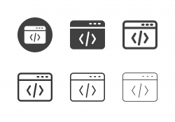 Web Coding Icons - Multi Series