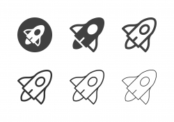Space Travel Vehicle Icons - Multi Series