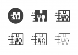 Food Box Packaging Icons - Multi Series