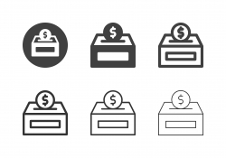 Donation Box Icons - Multi Series