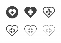 First Aid Heart Icons - Multi Series