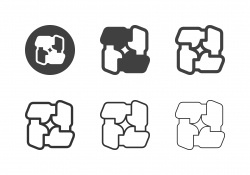 Teamwork Icons - Multi Series stock