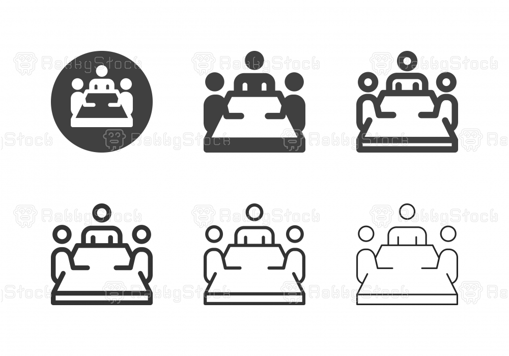 Boardroom Meeting Icons - Multi Series