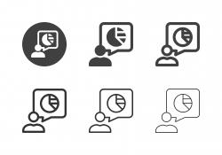 Pie Chart Speech Icons - Multi Series