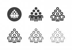 Human Pyramid Icons - Multi Series