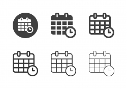 Date Time Icons - Multi Series