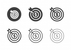 Financial Target Icons - Multi Series